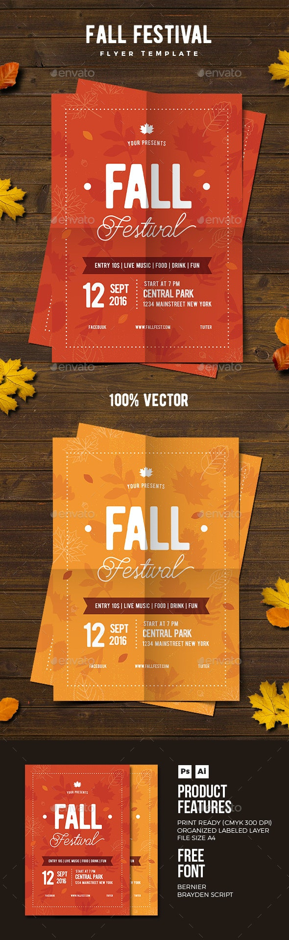 Fall Festival Flyer 02 - Events Flyers