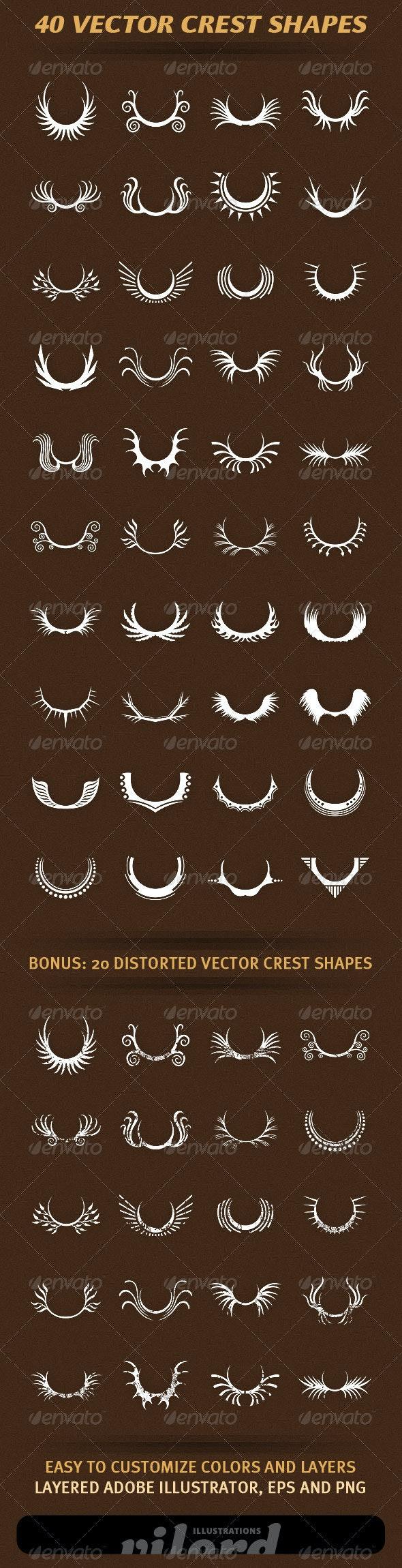 40 Vector Crest Shapes - Decorative Vectors