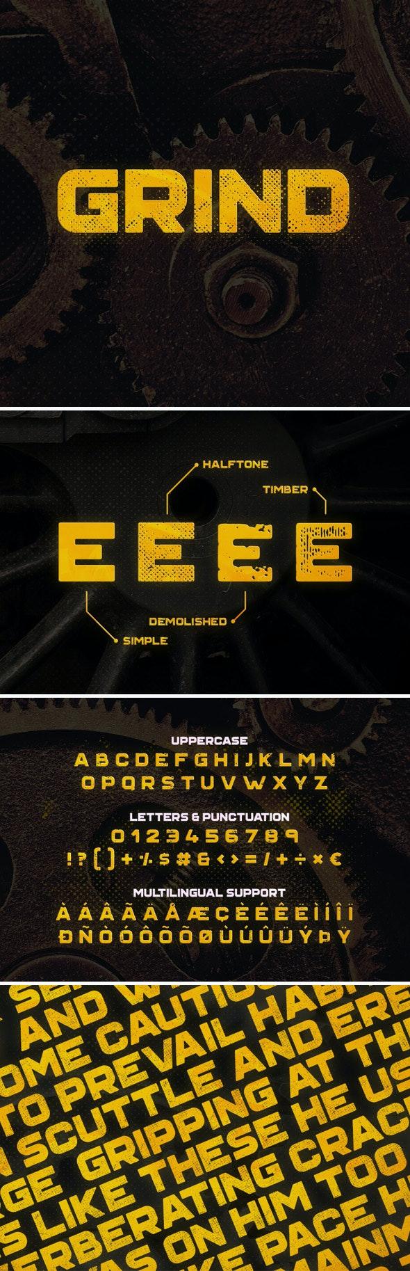 Grind Typeface - Grunge Decorative