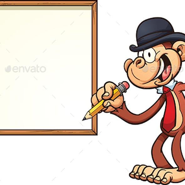 Monkey with board