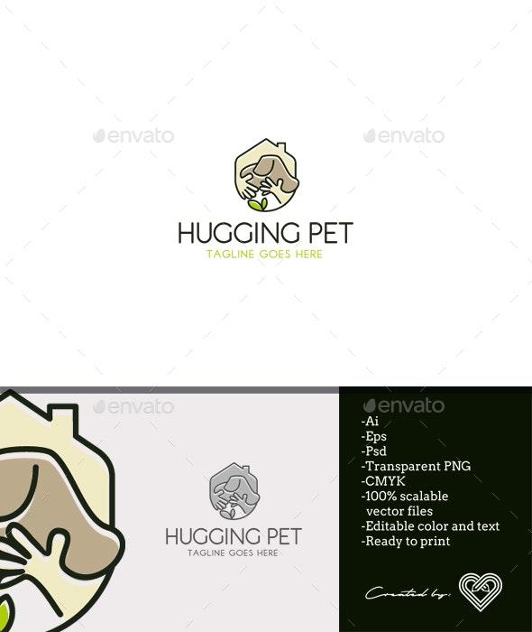 Hugging Pet - Animals Logo Templates