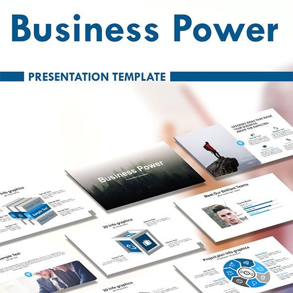 Business Power powerpoint Presentation Template