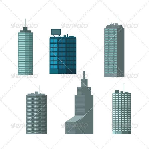 Buildings_set_01 - Buildings Objects