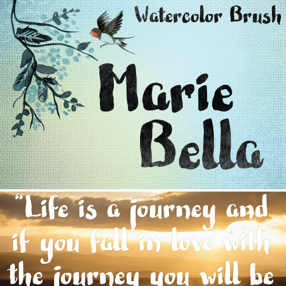 Marie Bella Brush Font