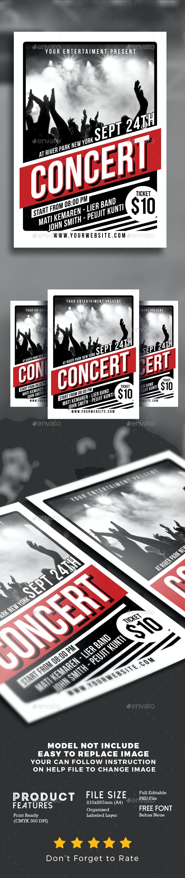 Music Concert Flyer Poster - Events Flyers