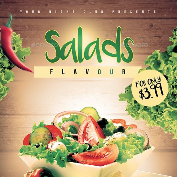 Salads Flavour Flyer