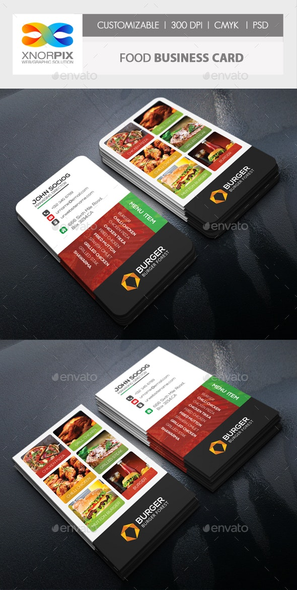 Food Business Card - Corporate Business Cards