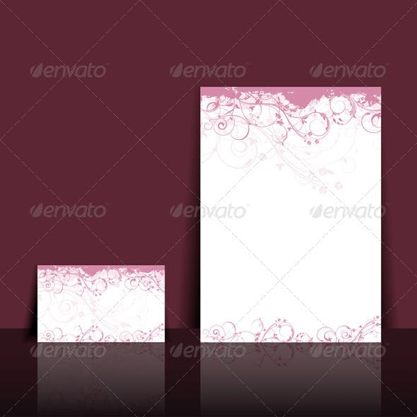 Letterhead and business card layout