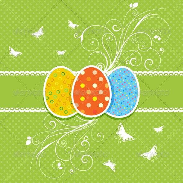 Decorative Easter Egg background - Seasons/Holidays Conceptual