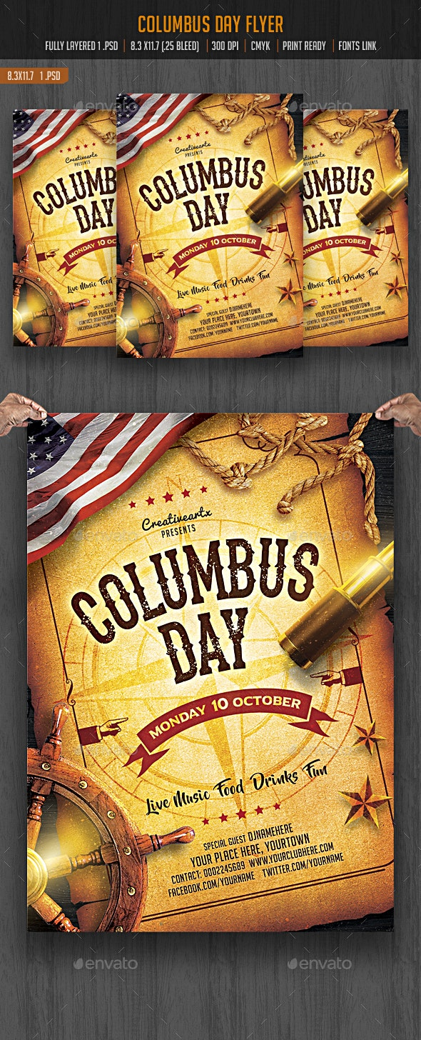 Columbus Day Flyer - Events Flyers