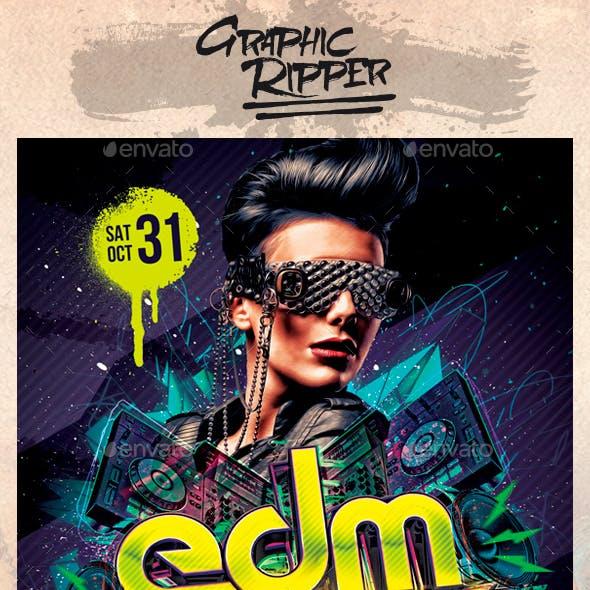 EDM Night Flyers Template