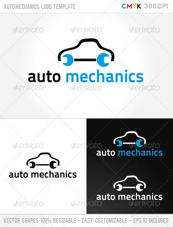 Auto Mechanics Logo Template - Symbols Logo Templates