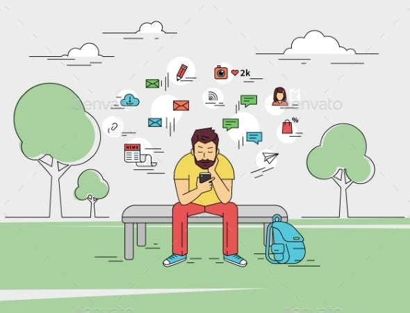 Man With Smartphone - People Characters