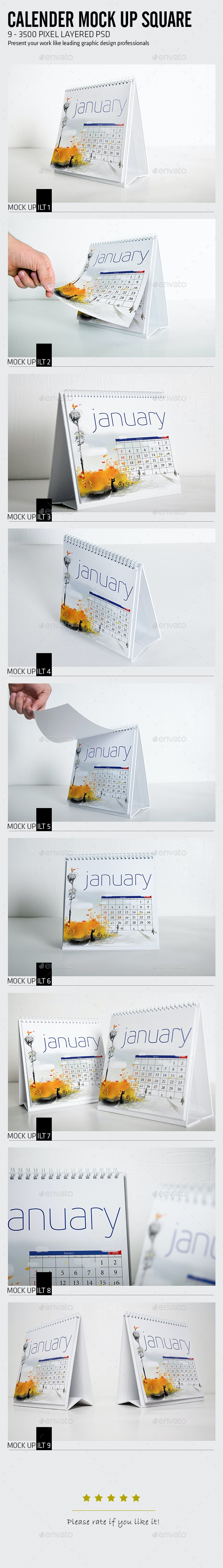 Calender Mock Up Square - Miscellaneous Print