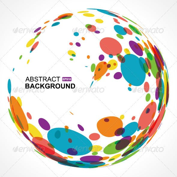 Circle Pattern On White Background