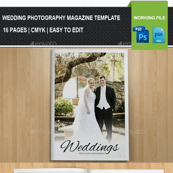 Wedding Photography Brochure / Catalog Template -V02