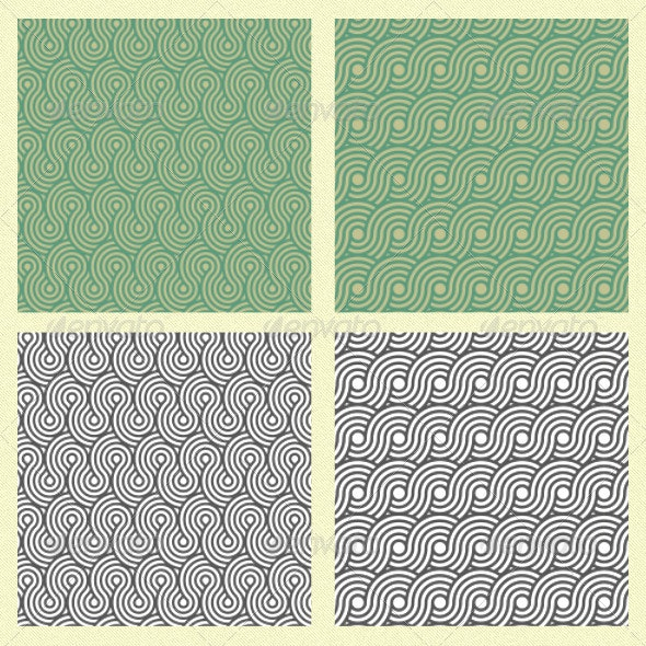 Seamless Spiral Circle Pattern - Patterns Decorative