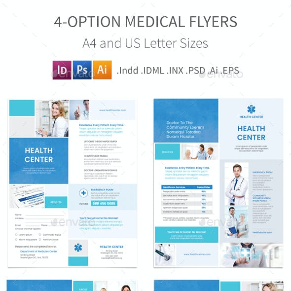 Medical Flyers 5 – 4 Options