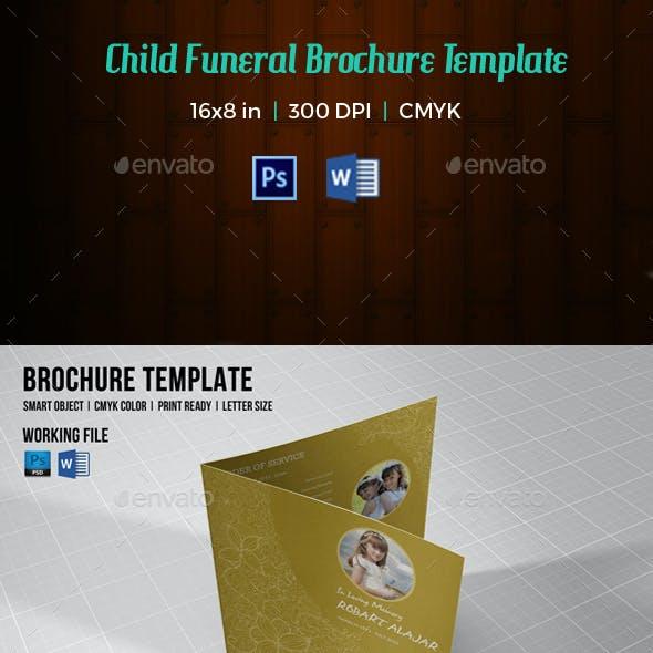 Square Funeral Program Template-V124