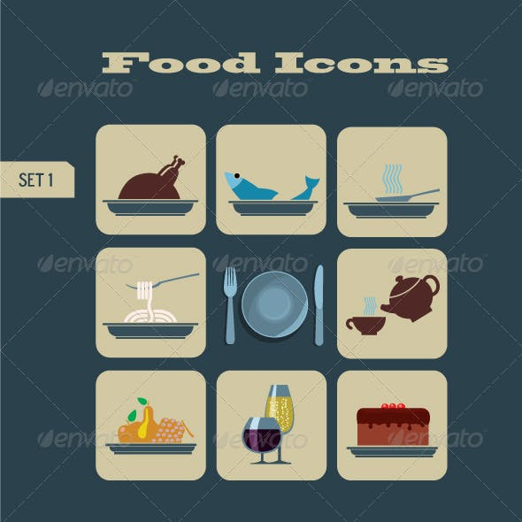 Foods & Beverages Icons