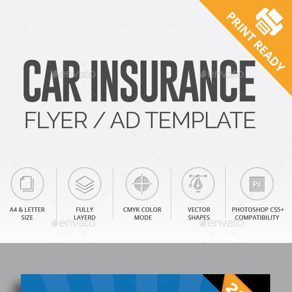 Car Insurance Flyer / AD Template