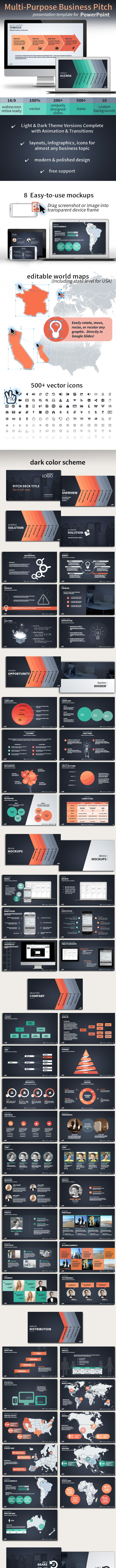 Multi-Purpose Vector Business Pitch Deck for PowerPoint - Pitch Deck PowerPoint Templates
