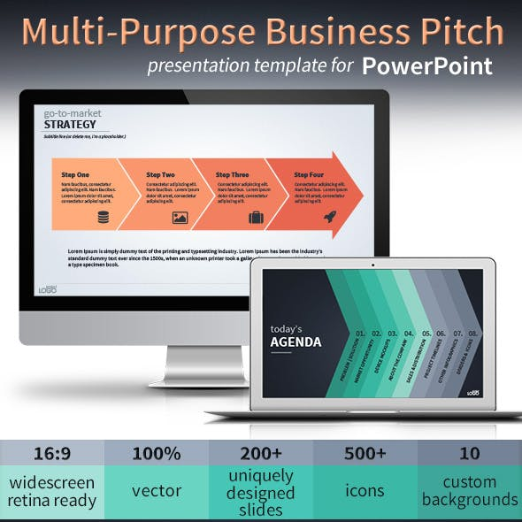 Multi-Purpose Vector Business Pitch Deck for PowerPoint