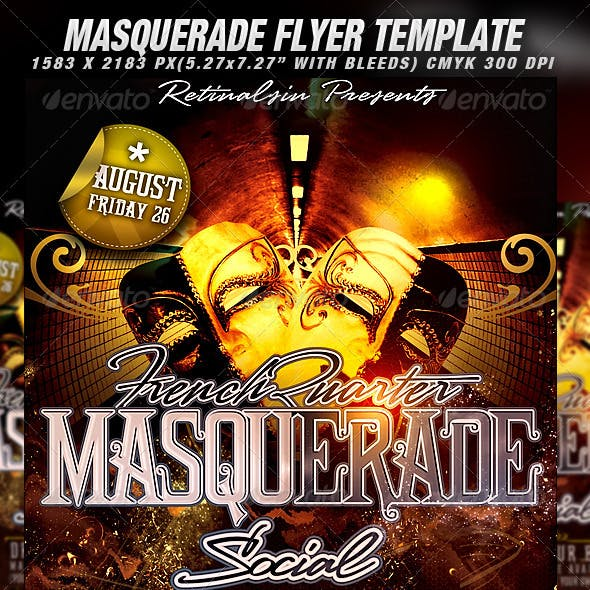 Masquerade Flyer Template