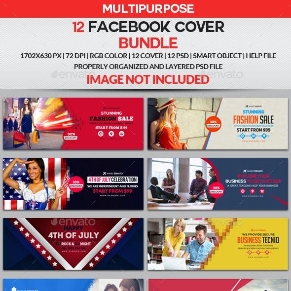 Facebook Cover Bundle - 12 Design