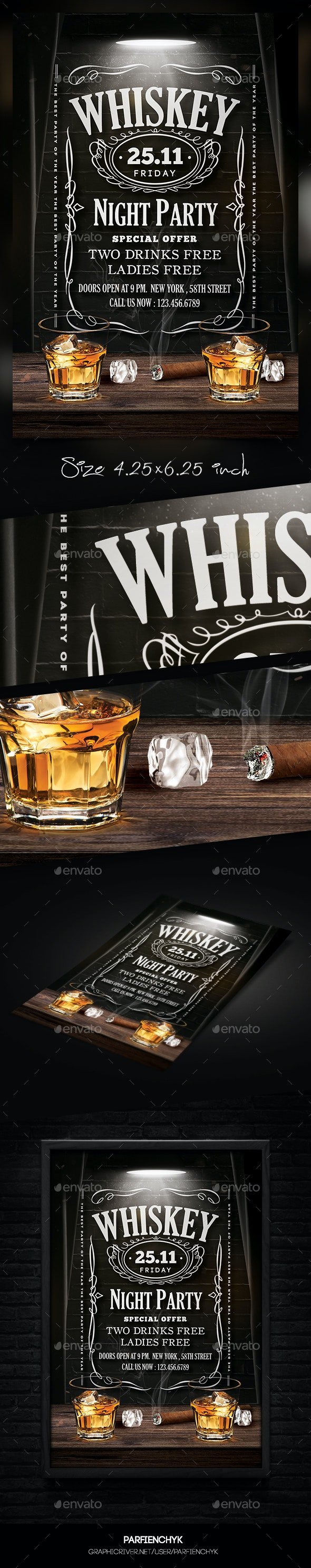 Whiskey Flyer - Clubs & Parties Events
