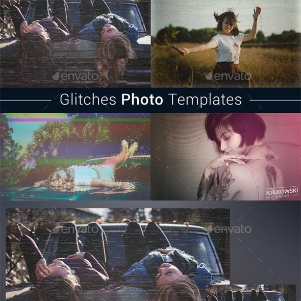 Glitches Photo Templates