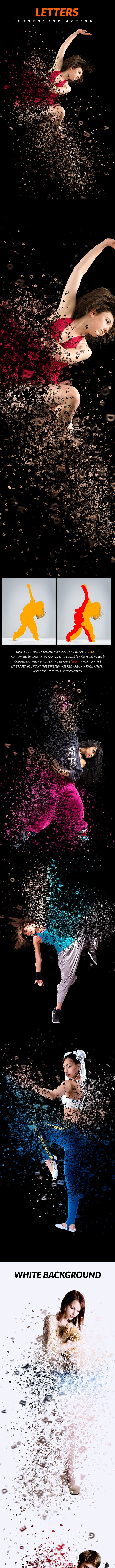 Letters Photoshop Action - Photo Effects Actions