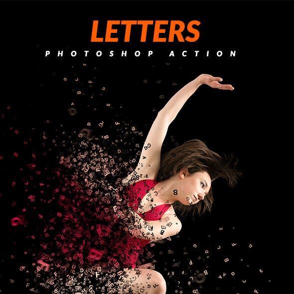 Letters Photoshop Action
