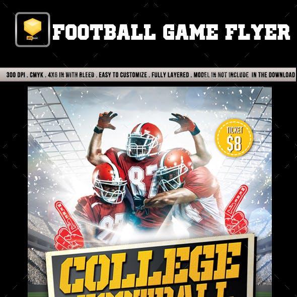 Football Game Flyer.