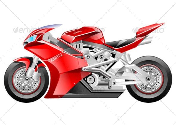 Ducati Motor - Objects Vectors