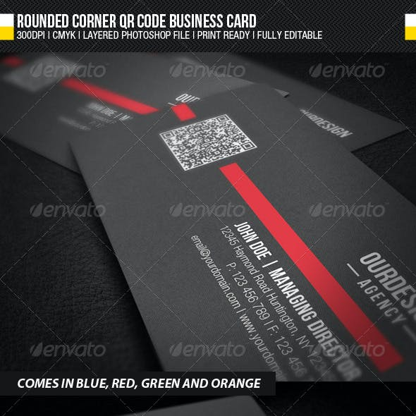 Rounded Corner QR Code Business Card
