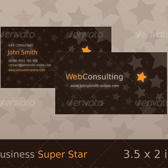 Super Star - Brown / Orange Business Card