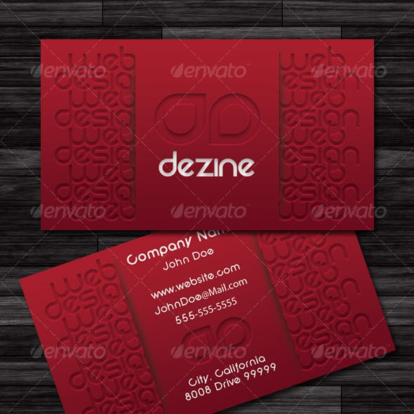 Pressed Business Card