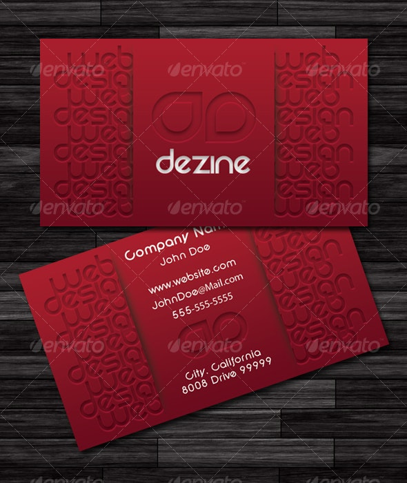 Pressed Business Card - Business Cards Print Templates