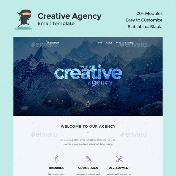 Phasency Creative Agency E-Newsletter PSD Template