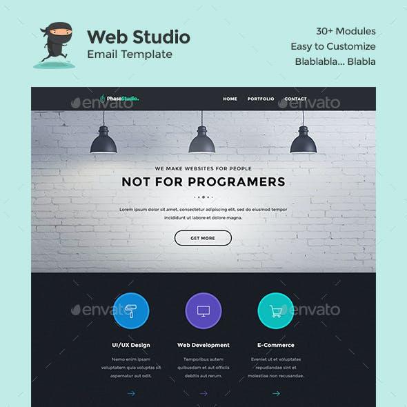 PhaseStudio - Web Studio E-Newsletter PSD Template