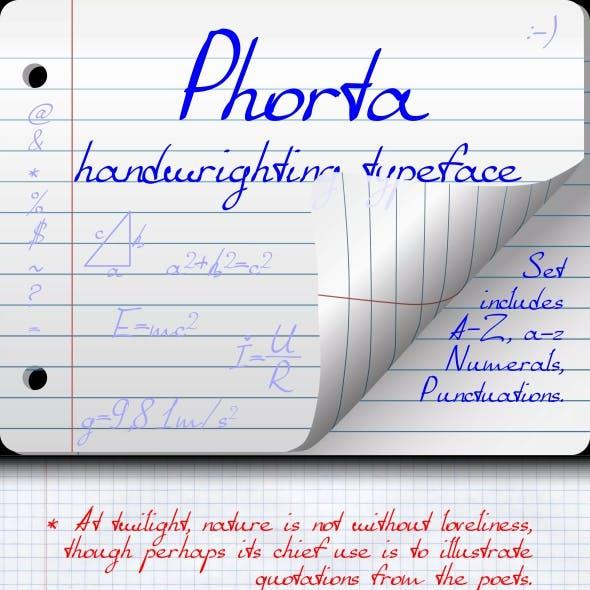 Phorta (handwrighting typeface)
