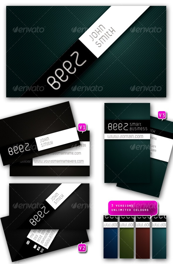 BEEZ - smart business card set - Business Cards Print Templates