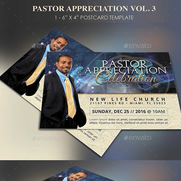 Starlight Pastor Anniversary Flyer Template Vol. 3