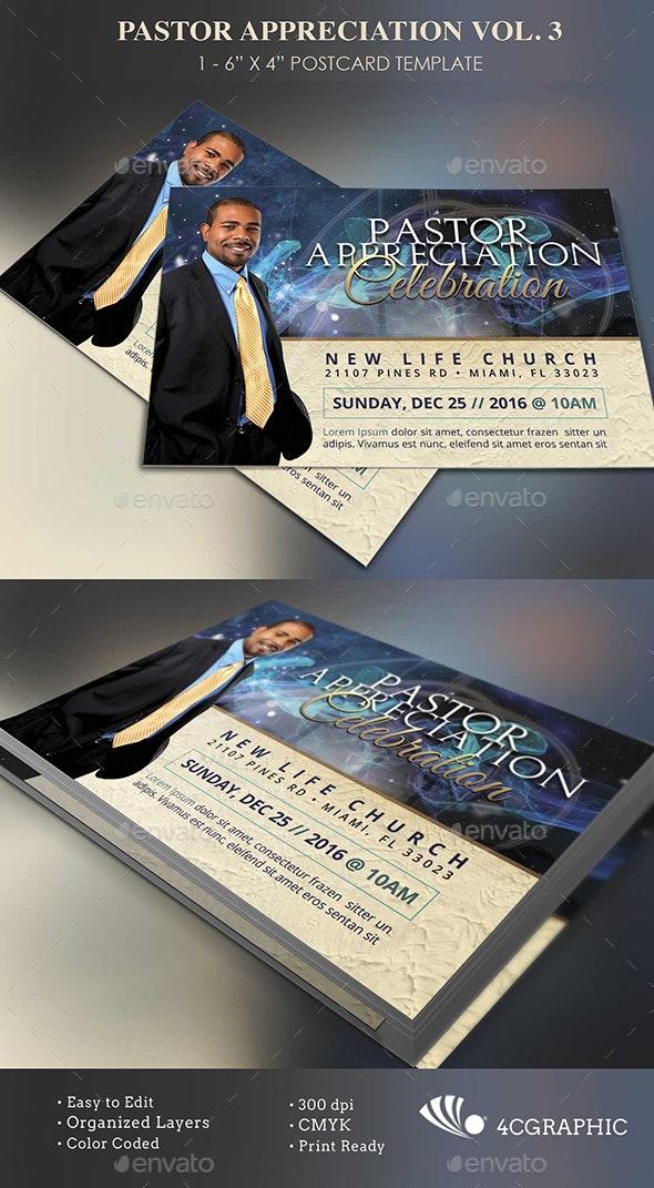 Starlight Pastor Anniversary Flyer Template Vol  3