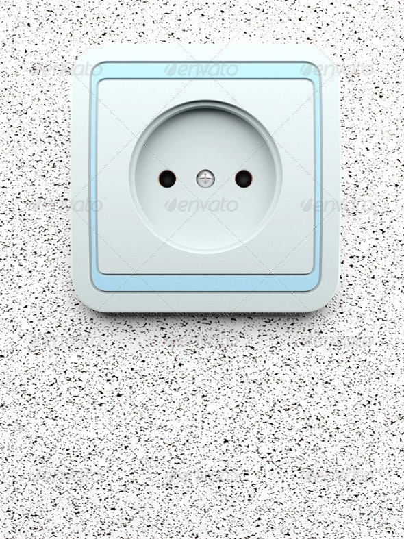 Electric Socket for Connection - Technology 3D Renders