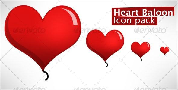 Heart Balloon - Miscellaneous Icons