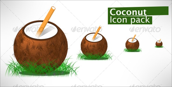 Coconut Drink - Food Objects