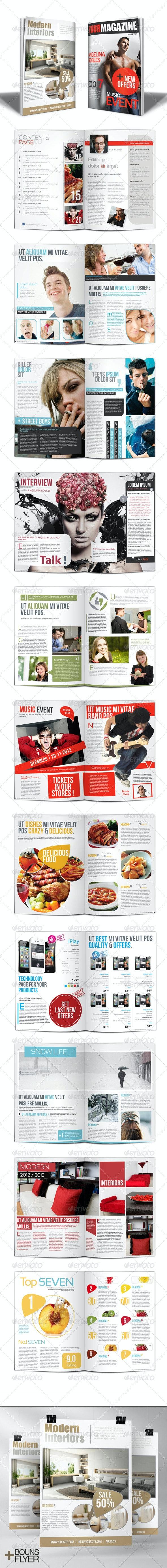 Modern Magazine - Magazines Print Templates