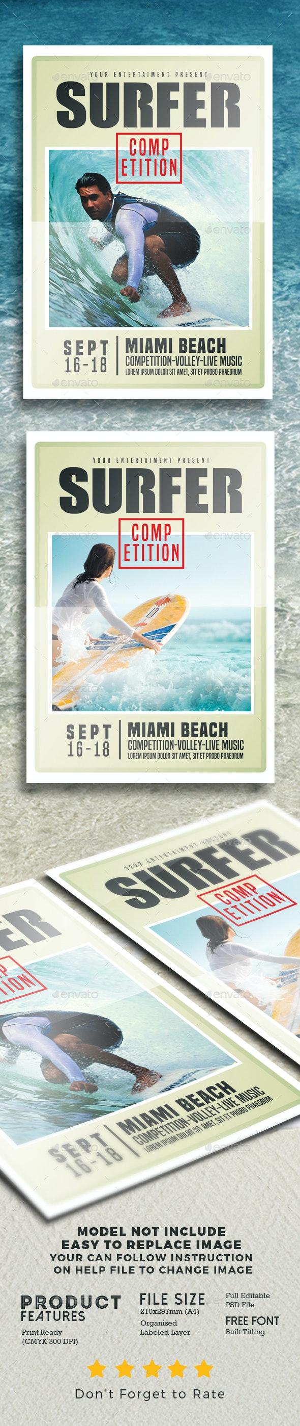 Surfing Flyer Competition - Events Flyers